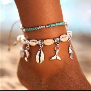 NWT Bohemian Anklets Set Handmade Anklet Bracelet